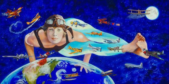 Wayman-Maurer, Donna, Spirit of America (Amelia Earhart)