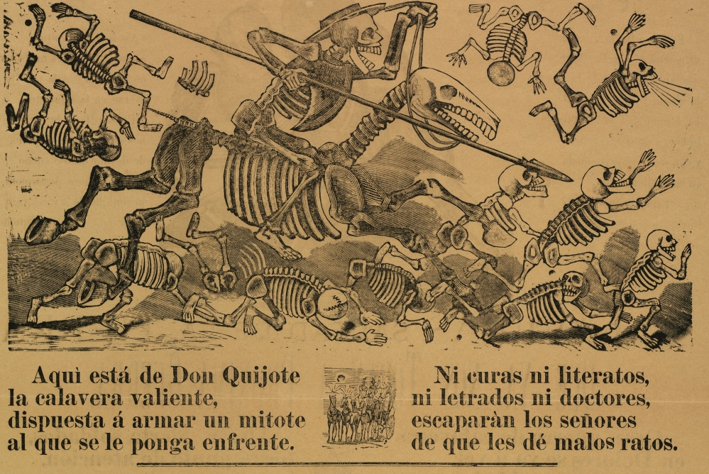 1 - Calavera of Don Quixote - detail
