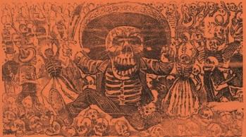 Posada, Calavera of the Hooded Ones (or the Revolutionary Calavera), c.1917