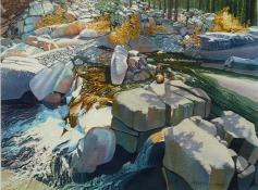 petersen, dan - rocky rapids, watercolor